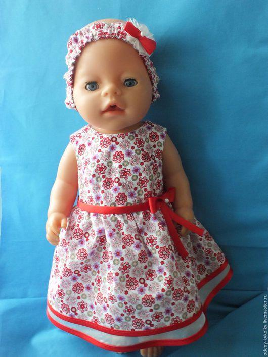 Одежда для кукол ручной работы. Ярмарка Мастеров - ручная работа. Купить Платье для куклы Беби Борн с повязкой. Handmade.