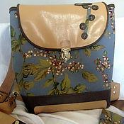 """Сумки и аксессуары ручной работы. Ярмарка Мастеров - ручная работа """"Прерии"""" женский рюкзак, молодежный рюкзак, подарок девушке. Handmade."""