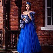 Платья ручной работы. Ярмарка Мастеров - ручная работа Свадебное платье в Русском стиле, платье в стиле А-ля Русс. Handmade.