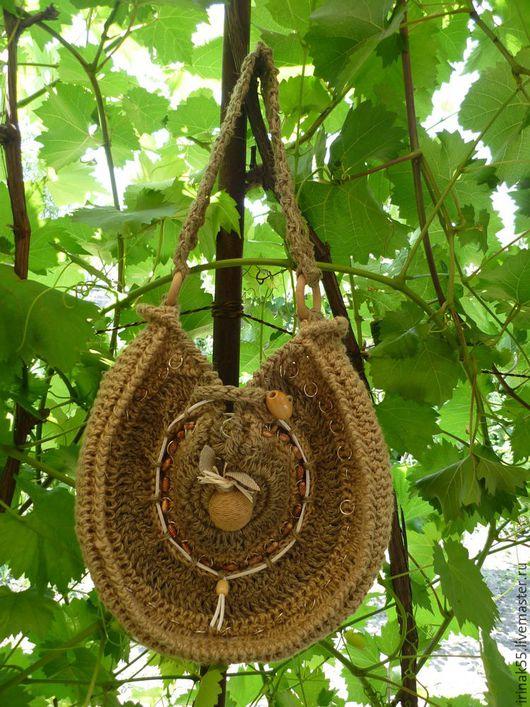 Handbags handmade. Livemaster - handmade. Buy Bag of hemp rope.Boho style, hemp rope