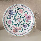 """Посуда ручной работы. Ярмарка Мастеров - ручная работа Тарелка """"Ирисы"""". Handmade."""