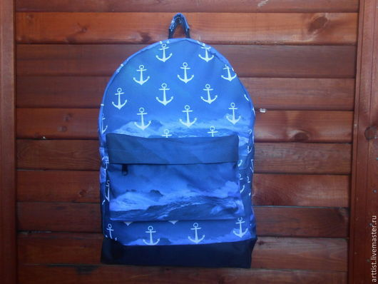 Рюкзаки ручной работы. Ярмарка Мастеров - ручная работа. Купить Рюкзак. Handmade. Разноцветный, сумка на каждый день