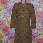 Одежда ручной работы. Ярмарка Мастеров - ручная работа Платье темно-бежевое. Handmade.