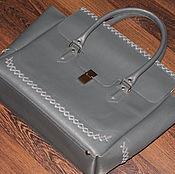 """Большая сумка """"  Palazzo"""" из кожи сафьяно"""