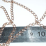 Материалы для творчества handmade. Livemaster - original item Silver chain large link 5 cm, covered with rhodium or gold. Handmade.