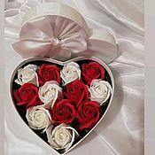 Подарки на 8 марта ручной работы. Ярмарка Мастеров - ручная работа Мыльные розы. Handmade.