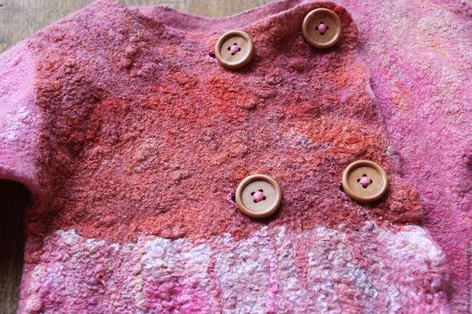 """Одежда для девочек, ручной работы. Ярмарка Мастеров - ручная работа. Купить Валяный жакет для девочки """"Малинка"""". Handmade. Розовый, для детей"""