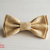 Аксессуары ручной работы. Ярмарка Мастеров - ручная работа Бабочка галстук песочная, хлопок. Handmade.