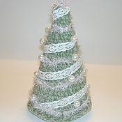 Подарки к праздникам ручной работы. Ярмарка Мастеров - ручная работа вязаная ёлочка. Handmade.