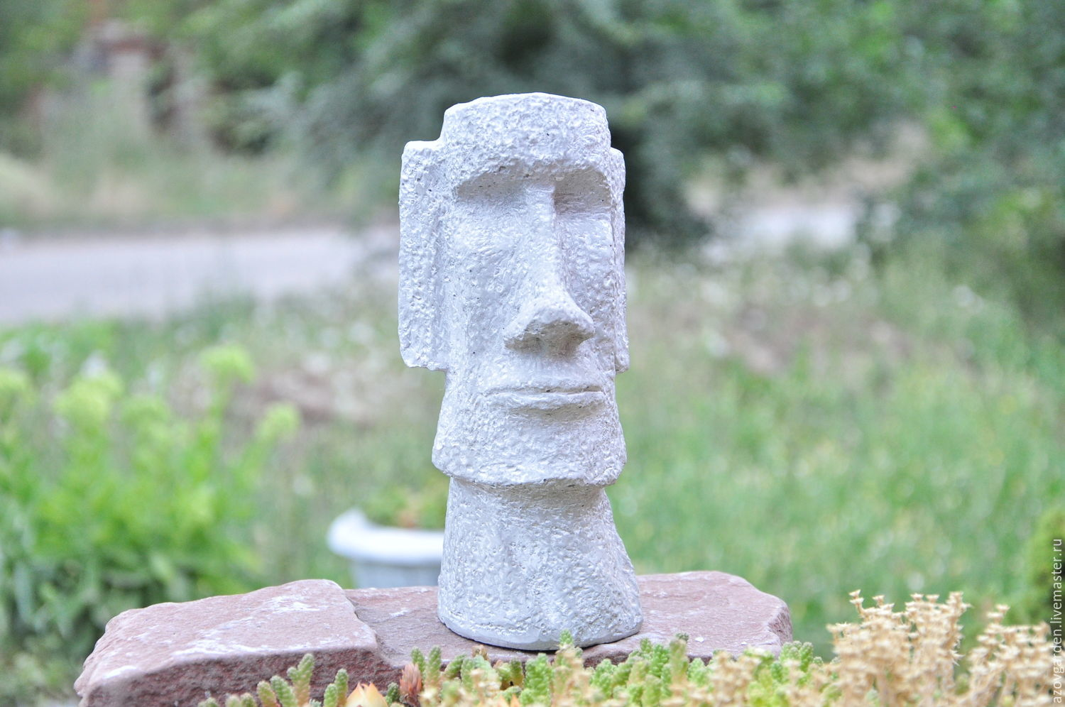 Moai Statue Made Of Concrete For Interior Decoration And Garden.