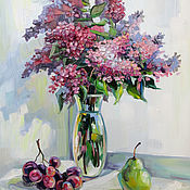 Картины и панно handmade. Livemaster - original item Oil painting Sweet Breath of Lilac. Handmade.