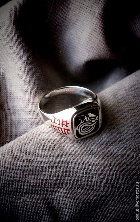 """Украшения для мужчин, ручной работы. Ярмарка Мастеров - ручная работа. Купить Кольцо """"Печать дракона"""". Handmade. Серебряное кольцо"""