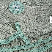 Одежда ручной работы. Ярмарка Мастеров - ручная работа Джемпер бохо Полынь и мята. Handmade.