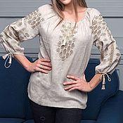 Народные рубахи ручной работы. Ярмарка Мастеров - ручная работа Женская вышитая рубаха. Handmade.