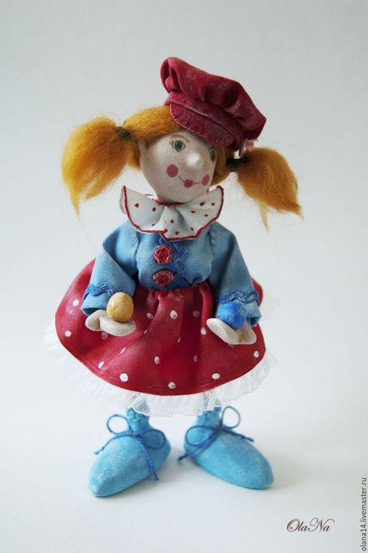 Коллекционные куклы ручной работы. Ярмарка Мастеров - ручная работа. Купить Клоунесса. Handmade. Комбинированный, веселая клоунесса, клоун для коллекции