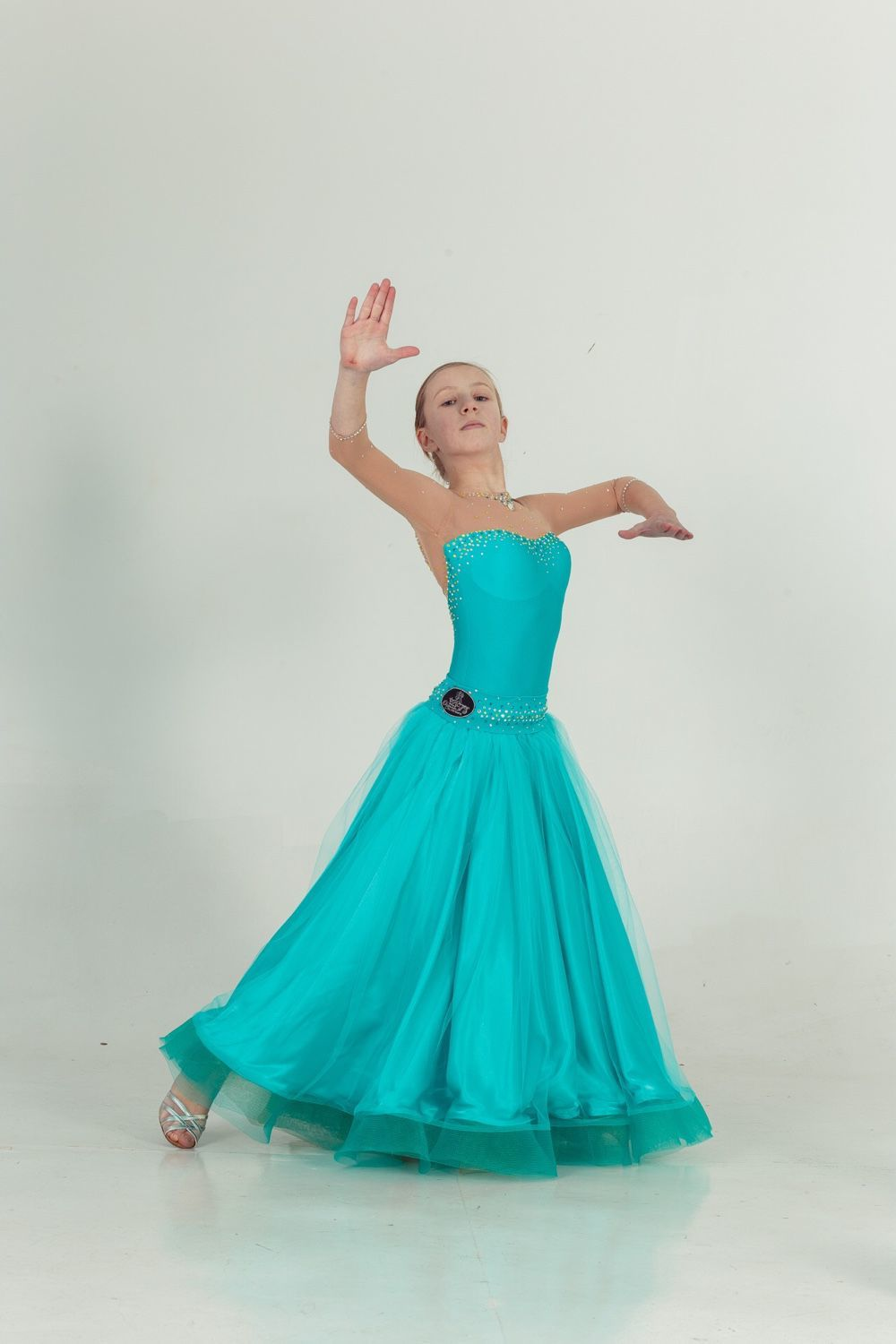 2258d05bf0e Dance Costumes handmade. Livemaster - handmade. Buy Ballroom dress for dance  JADE IN GOLD ...