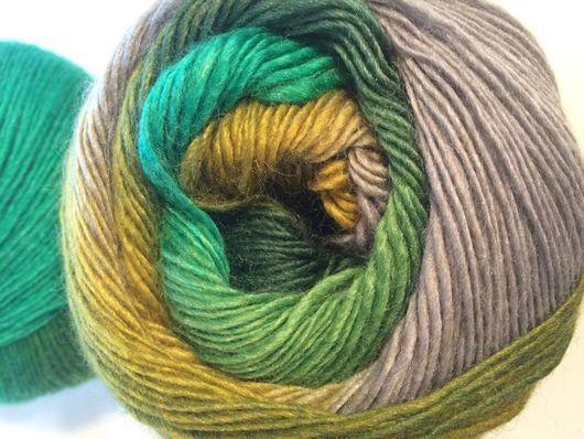 Вязание ручной работы. Ярмарка Мастеров - ручная работа. Купить Пряжа  Rainbow - мультицвет. Handmade. Разноцветный, пряжа для вязания спицами