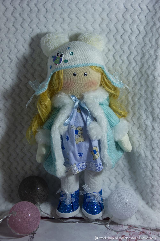 зимняя девочка снегурочка в тёплой шубке, Большеножка, Кострома,  Фото №1