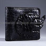 Сумки и аксессуары handmade. Livemaster - original item Wallet black crocodile leather with a paw IMA0023B6. Handmade.