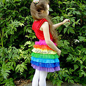 Одежда детская handmade. Livemaster - original item Skirt for girls with ruffles of tulle.. Handmade.
