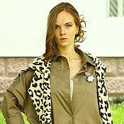 Одежда ручной работы. Ярмарка Мастеров - ручная работа Платье-рубашка LOVE#17. Handmade.