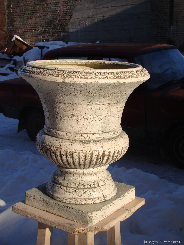 Ваза, горшок из глины шамотной 57 см, Вазы, Москва,  Фото №1