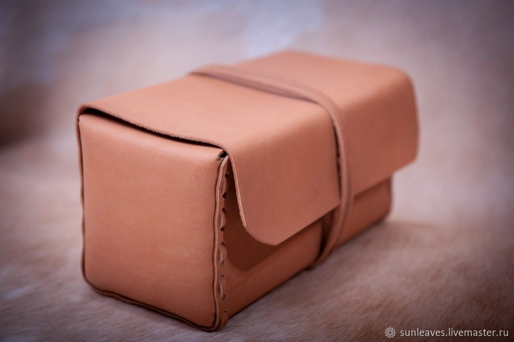Case made of genuine leather ' Sand yellow', Travel bags, St. Petersburg,  Фото №1
