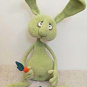 Куклы и игрушки ручной работы. Ярмарка Мастеров - ручная работа Заяц вязанный Гриня. Handmade.