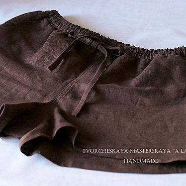 Одежда ручной работы. Ярмарка Мастеров - ручная работа Шорты: Мужские шорты короткие с карманами спереди и сзади. Handmade.