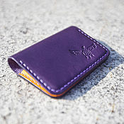 Сумки и аксессуары handmade. Livemaster - original item business card Holder premium Japanese leather ( card case ). Handmade.