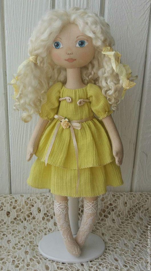 Коллекционные куклы ручной работы. Ярмарка Мастеров - ручная работа. Купить Текстильная кукла Маришка. Handmade. Салатовый, интерьерная игрушка