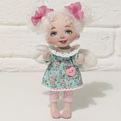 Dolls handmade. Livemaster - original item Dolls and dolls: Textile doll cute angel. Handmade.