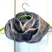 """Аксессуары ручной работы. Ярмарка Мастеров - ручная работа Снуд мужской валяный шарф унисекс """"Любимчик)""""  мужской войлочный шарф. Handmade."""