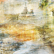 Картины и панно handmade. Livemaster - original item Photo city abstract painting St. Petersburg Embankment of History. Handmade.