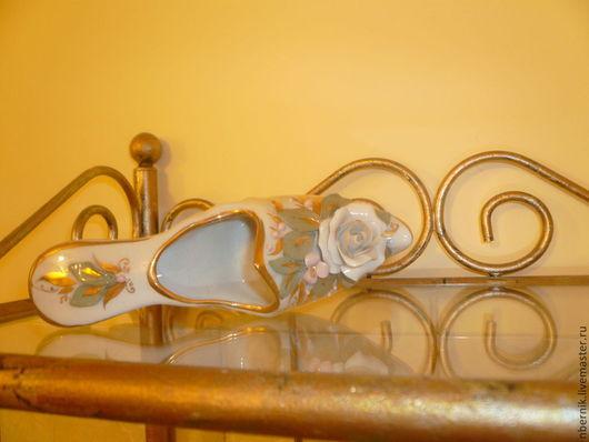 Мебель ручной работы. Ярмарка Мастеров - ручная работа. Купить полочка для Золушки. Handmade. Золотой, кракелюр