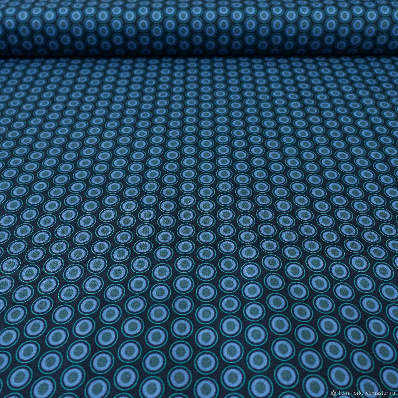 Премиум хлопок американский Горох (синий), Ткань, Москва, Фото №1