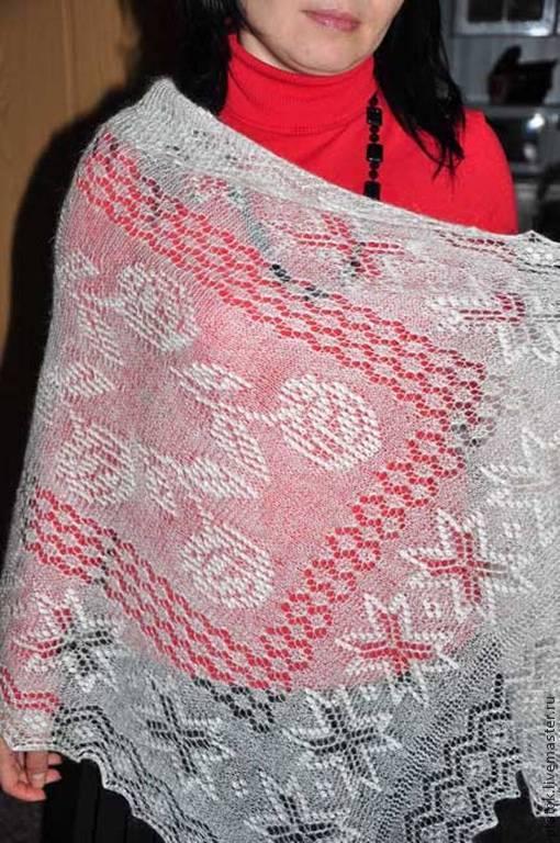 Шарфы и шарфики ручной работы. Ярмарка Мастеров - ручная работа. Купить Шарфик очень красивый и необычный из натурального пуха.. Handmade.