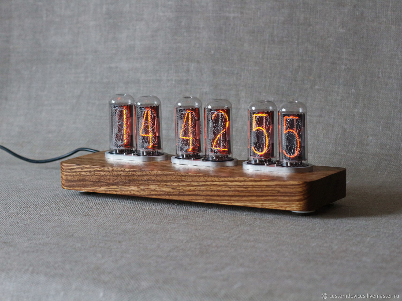 "Nixie tube clock ""Loft IN-18"" tubes IN-18, Tube clock, Moscow,  Фото №1"