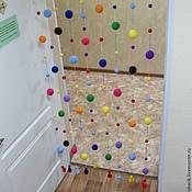 Двери ручной работы. Ярмарка Мастеров - ручная работа Шторка из пенопластовых шариков. Handmade.