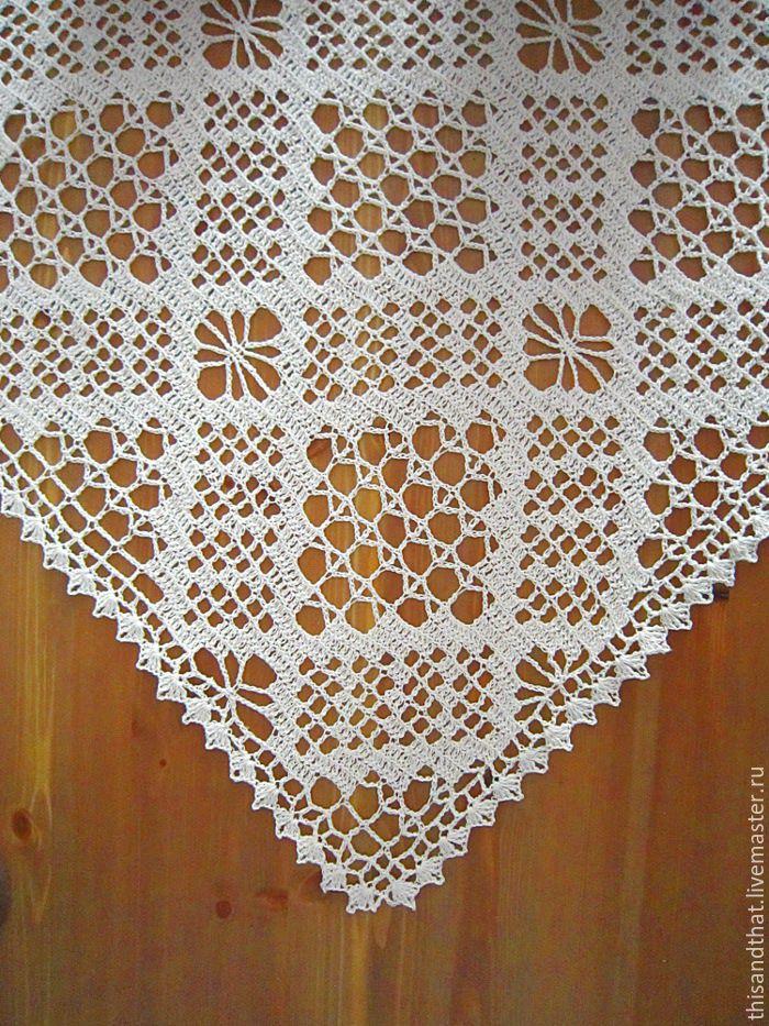 Small Crochet Tablecloth Milk Color Cotton Sirloin Knitting Shop