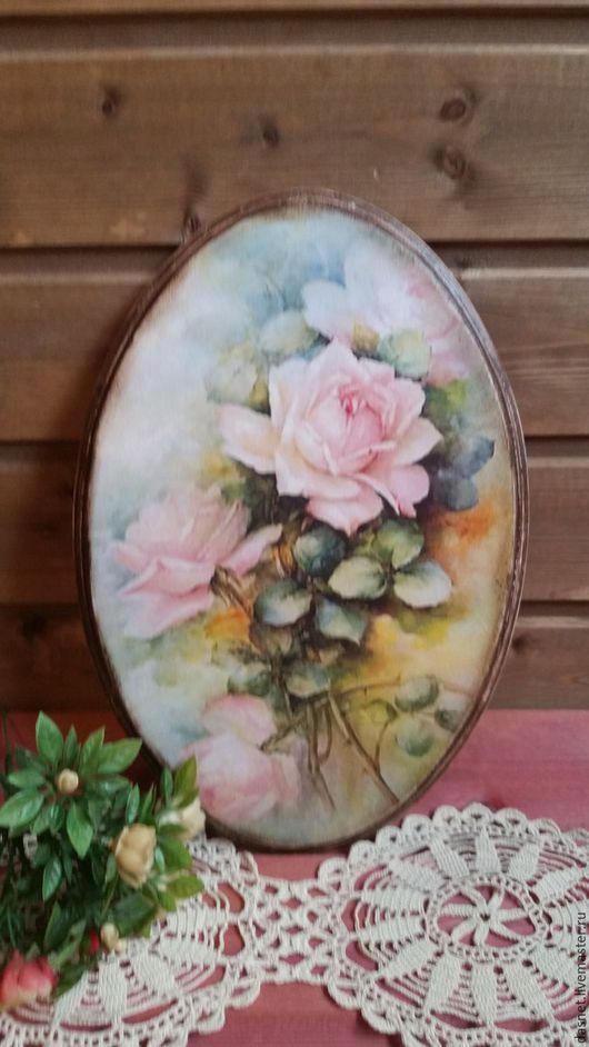 """Картины цветов ручной работы. Ярмарка Мастеров - ручная работа. Купить Панно""""Розы"""". Handmade. Комбинированный, интерьер, панно настенное"""