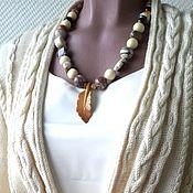 Украшения handmade. Livemaster - original item Beads with a pendant AUTUMN BOHO. Handmade.