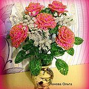 Цветы и флористика handmade. Livemaster - original item Bouquet of roses-25 cm. Handmade.