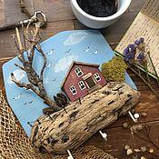Для дома и интерьера handmade. Livemaster - original item Key holders wall: island. Handmade.