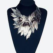 Украшения handmade. Livemaster - original item Platinum leather Necklace. Handmade.