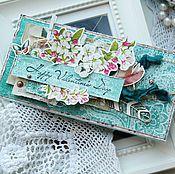 Открытки ручной работы. Ярмарка Мастеров - ручная работа Валентинка- конверт для подарка. Handmade.