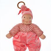Куклы и игрушки ручной работы. Ярмарка Мастеров - ручная работа Сладкий Персик - кукла вальдорфская для самых маленьких. Handmade.