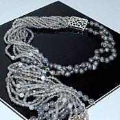 Украшения handmade. Livemaster - original item With pendant of the agate grey