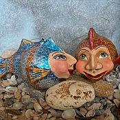 Куклы и игрушки ручной работы. Ярмарка Мастеров - ручная работа Рыбки золотые : истории любви. Handmade.