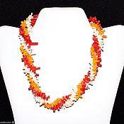 Украшения handmade. Livemaster - original item Multi-row colorful necklace made of coral. Handmade.